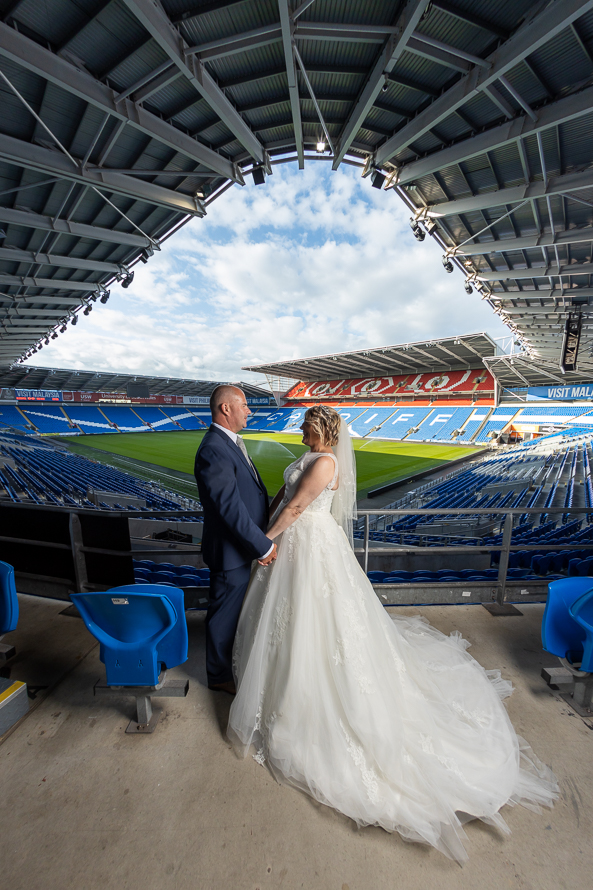 Wedding photography Cardiff city stadium